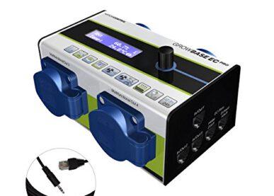 GrowControl GrowBase EC PRO + RJ45 Kabel auf Klinke 3,5 mm Schwarz 5m