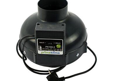 Prima Klima Set (2 Stufen Lüfter 160/280m3/h) Lüftungsset inklusive Aktivkohlefilter Rohrventilator und Schlauch AKF Premium Belüftungsset für Growbox Homebox Darkroom Hydroshoot Grow-Room Inkl Greenception Dünger - 3